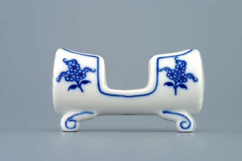 Zwiebelmuster Toothpick Box 8cm, Original Bohemia Porcelain from Dubi