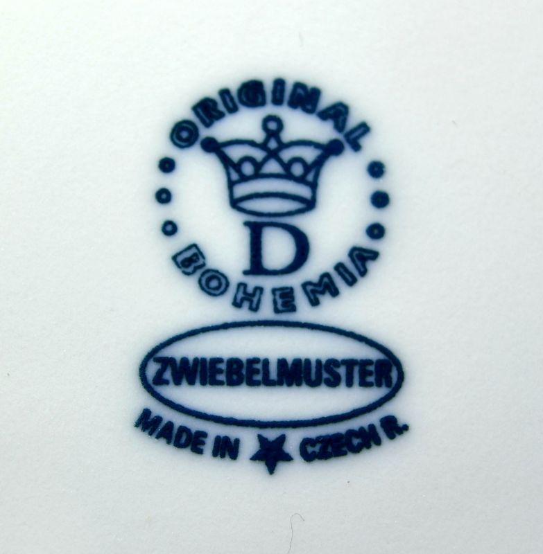 Zwiebelmuster Oval Medium Baking Dish 21.5cm, Original Bohemia Porcelain from Dubi