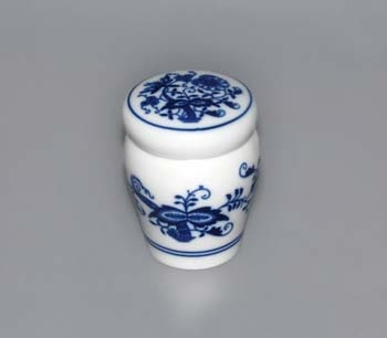 Zwiebelmuster Container with Lid 0.10L, Original Bohemia Porcelain from Dubi