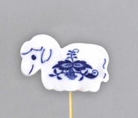 Zwiebelmuster Sheep, Easter Decoration 6cm, Original Bohemia Porcelain from Dubi