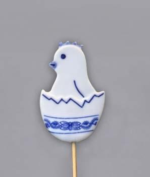 Zwiebelmuster Little Chick, Eater Decoration,Original Bohemia Porcelain from Dubi