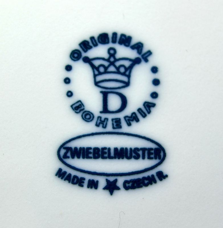 Zwiebelmuster Basin, Hygine set 35cm, Original Bohemia Porcelain from Dubi