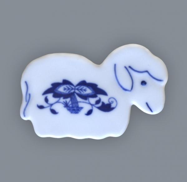 Zwiebelmuster Magnet Sheep 6cm, Original Bohemia Porcelain from Dubi
