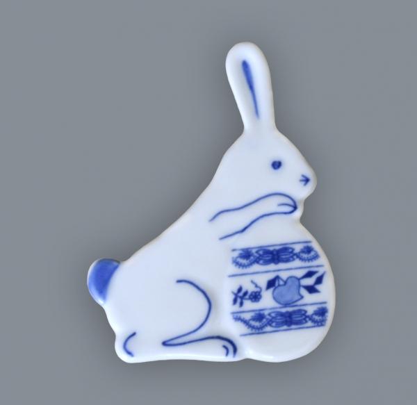 Zwiebelmuster Magnet Rabbit, Original Bohemia Porcelain from Dubi