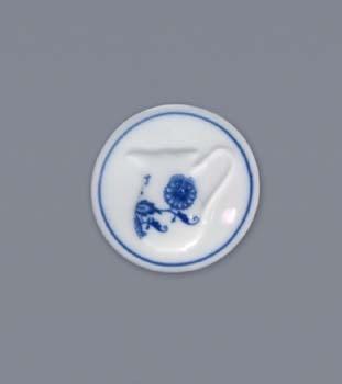 Zwiebelmuster Magnet Round 4.5cm, Original Bohemia Porcelian from Dubi