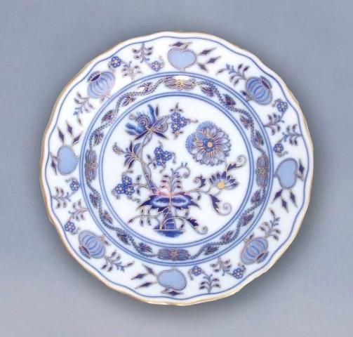 Zwiebelmuster Teller dessert zwiebelmuster vergoldet Bohemia Porzellan aus Dubi
