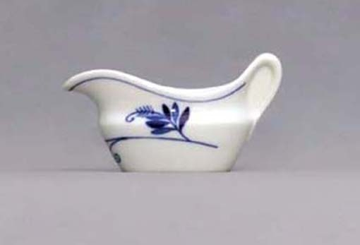 Eco Zwiebelmuster Sauceboat Oval 0.10L, Bohemia Porcelain from Dubi