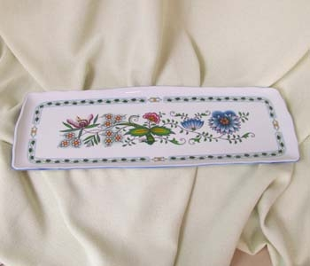 Nature Zwiebelmuster Square Sadwich Tray, NATURE Bohemia Porcelain from Dubi