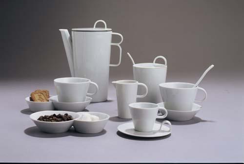 Zwiebelmuster Coffee Set White, Bohemia Porcelain from Dubi