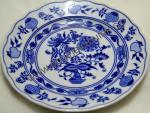Zwiebelmuster Dessert Flat Plate 19cm, Original Bohemia Porcelain form Dubi