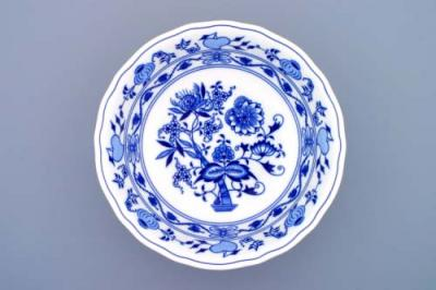 Zwiebelmuster Round Deep Dish 28cm, Original Bohemia Porcelain from Dubi