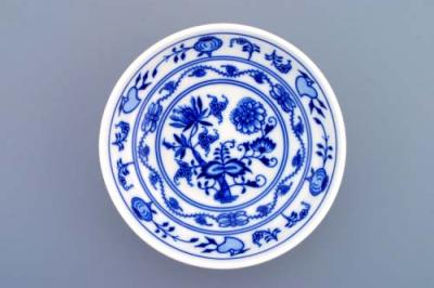 Zwiebelmuster Dish Smooth Low 14cm, Original Bohemia Porcelain from Dubi