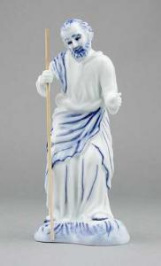 Zwiebelmuster St. Joseph with Stick, Original Bohemia Porcelain from Dubi