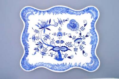 Zwiebelmuster Decorative Tray 25cm, Original Bohemia Porcelain Dubi